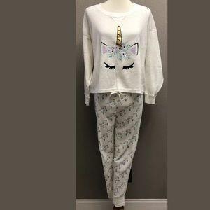 Snooze Button Unicorn 2 PC. Pajama Set